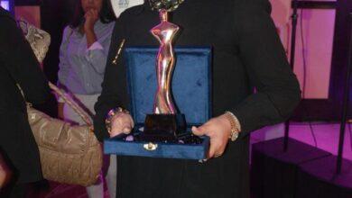 """صورة انجي الصبان تتكرم في حفل""""قلادةالمرأةالمصرية""""في النسخة الثانية من منتدى المرأة المصرية"""