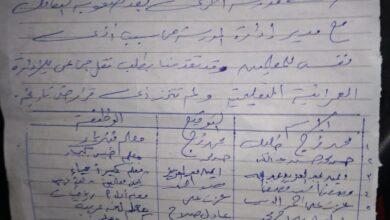 صورة استقالة جماعية لمدرسي مدرسة أم المؤمنين الثانوية بنات بالعمرانية بسبب مدير المدرسة