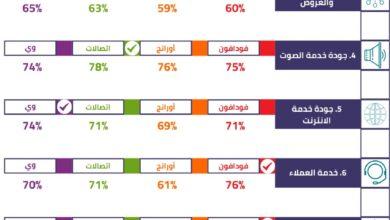 صورة أول استطلاع رسمي لمدى رضا المشتركين عن خدمات الاتصالات بمصر .. تابع التفاصيل