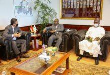 صورة رئيس البريد المصري يستقبل وزير الاتصالات والاقتصاد الرقمي النيجيري