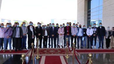 صورة وزير الاتصالات يلتقي خريجي البرنامج التدريبي المتخصص في تشغيل وصيانة شبكات الالياف الضوئية من محافظة شمال سيناء