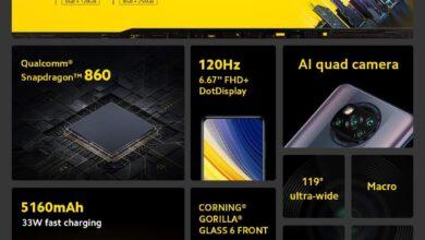 صورة  POCOتطرح أحدث هواتفها فى السوق المصريةPoco X3 Pro و Poco F3 .. تعرف على المواصفات والأسعار