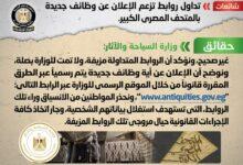 صورة مجلس الوزراء يحذر من تداول روابط  تزعم الإعلان عن وظائف جديدة بالمتحف المصري الكبير