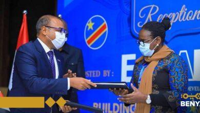 """صورة """"بنية"""" توقع اتفاقية  مع شركة البريد والاتصالات بالكونغو  لتأسيس شركة اتصالات جديدة في افريقيا"""