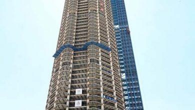 صورة إنتهاء الانشاءات الخرسانية لاعلى برج في أفريقيا بارتفاع 400 متر