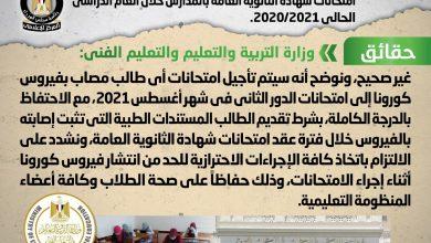 صورة مجلس الوزراء بكشف حقيقة تخصيص لجان  للطلاب المصابين بفيروس كورونا في امتحانات  الثانوية العامة