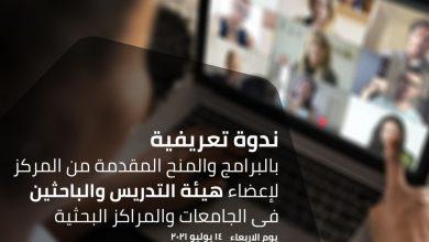 صورة مركز الإبداع التكنولوجي بإيتيدا ينظم ندوة تعريفية بالبرامج والمنح المقدمة لأعضاء هيئة التدريس والباحثين فى الجامعات