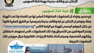 صورة مجلس الوزراء يوضح حقيقة الإعلان عن وظائف جديدة بهيئة قناة السويس