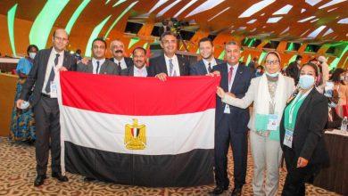صورة فوز مصر بعضوية مجلسى الادارة والاستثمار البريدى باتحاد البريد العالمي